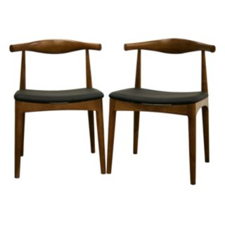 Baxton Studio 2-Piece Sonore Mid-Century Dining Chair Set