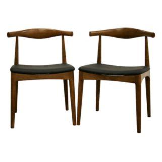 Baxton Studio 2-Piece Sonore Mid-Century Dining Chair Set