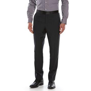 Men's Savile Row Modern-Fit Black Tuxedo Pants
