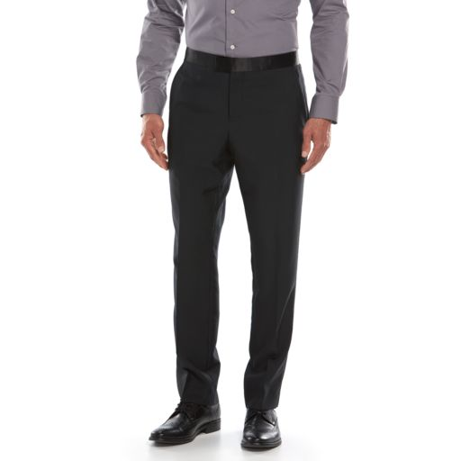 Men's Savile Row Modern-Fit Black Tuxedo Pants