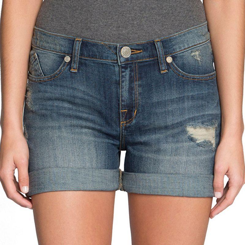 Rock & Republic Destructed Cuffed Jean Shorts - Women's