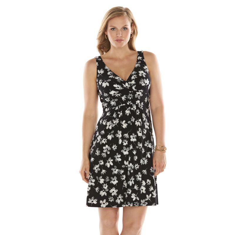 Plus Size Surplice Maxi Dress Dress Women's Plus Size