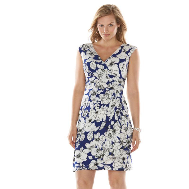 Surplice Dress Plus Size Dress Women's Plus Size