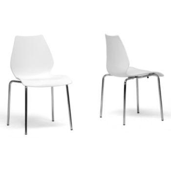 Baxton Studio 2-Piece Overlea Modern Dining Chair Set