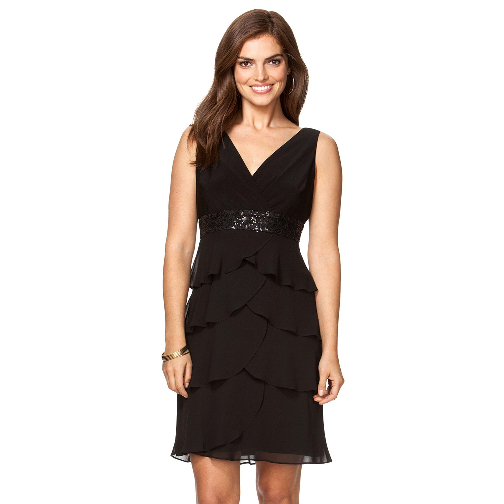 Empire Waist Black Dresses
