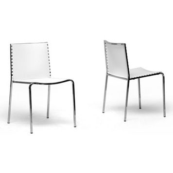 Baxton Studio 2-Piece Gridley Modern Dining Chair Set