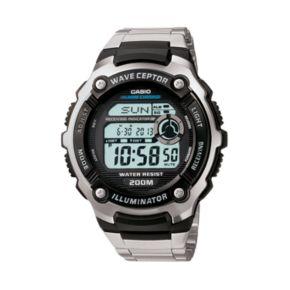 Casio Men's Wave Ceptor Stainless Steel Digital Atomic Watch