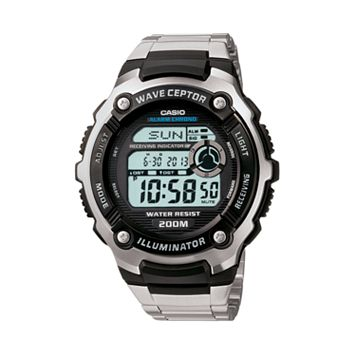 Casio Men's Wave Ceptor Stainless Steel Digital Atomic Watch