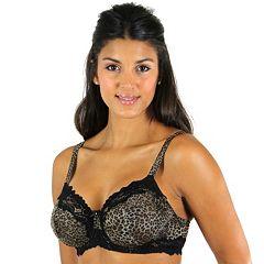 Lunaire Bra: Barbados Lace-Trim Mesh Full-Figure Demi Bra 15211