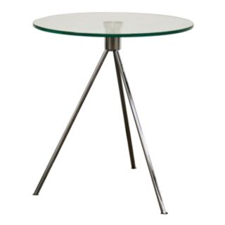 Baxton Studio Triplet Round Glass End Table