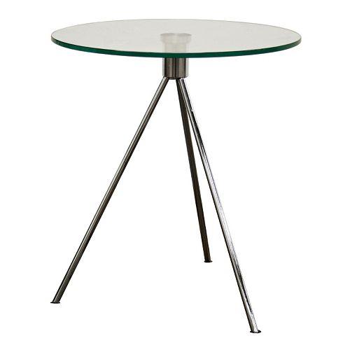 Baxton Studio Triplet Round Glass End Table