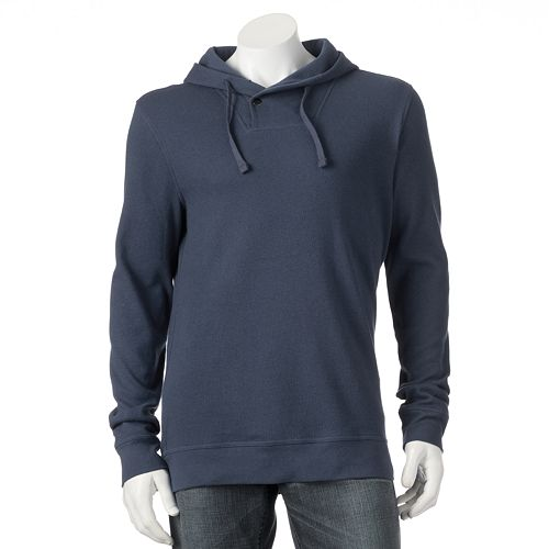 Men's Croft & Barrow®  Classic-Fit Solid Thermal Hooded Shawl-Collar Pullover