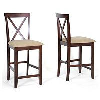Baxton Studio 2 pc Natalie Modern Counter Stool Set
