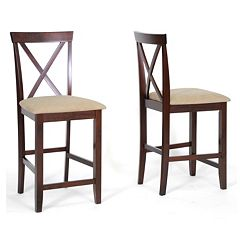 Baxton Studio 2-Piece Natalie Modern Counter Stool Set