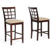 Baxton Studio 2 pc Katelyn Modern Counter Stool Set