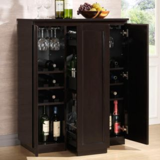 Baxton Studio Baltimore Modern Bar Cabinet