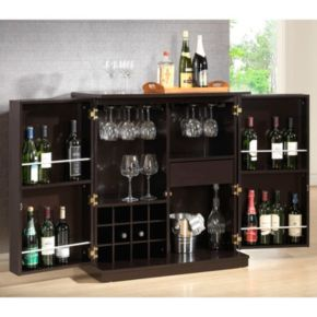 Baxton Studio Stamford Modern Bar Cabinet