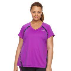 Plus Size FILA SPORT® Colorblock V-Neck Workout Tee