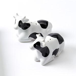 Food Network™ 2-pc. Cow Salt & Pepper Shaker Set