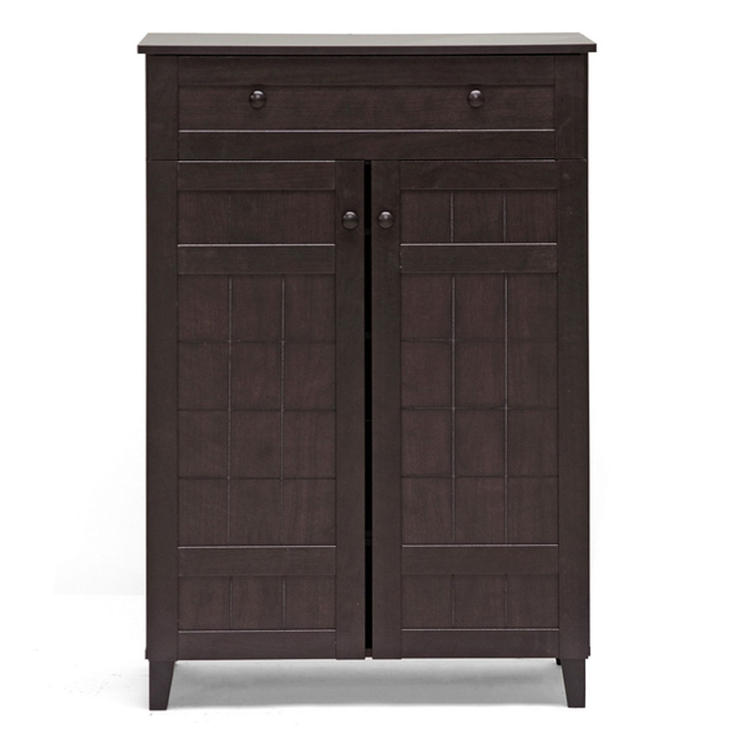 Baxton Studio Adelina 2 Door Shoe Cabinet. Sale