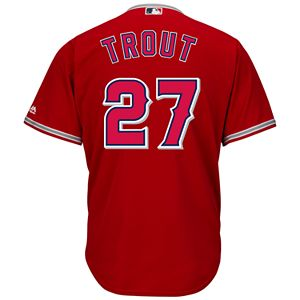 88d57788c05 Sale. $90.00. Regular. $120.00. Men's Majestic Los Angeles Angels of  Anaheim Mike Trout Cool Base ...