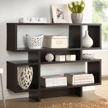 Baxton Studio Cassidy 4-Level Modern Bookshelf