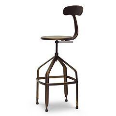 Baxton Studio Architect's Industrial Bar Stool