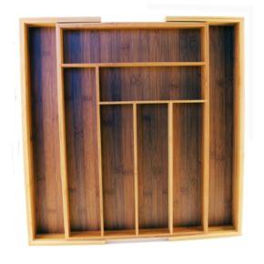 BergHOFF Cook N' Go 8-Slot Expandable Bamboo Flatware Organizer