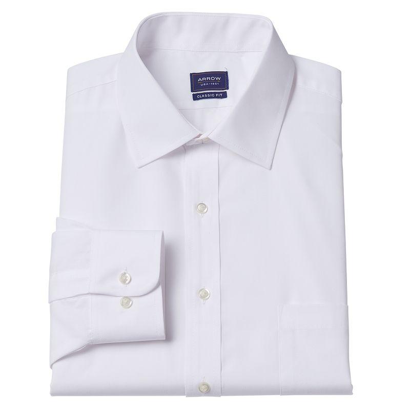 Men's Arrow Classic-Fit Spread Collar Dress Shirt