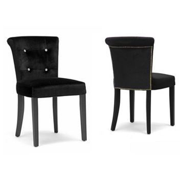 Baxton Studio Larouche Velveteen Modern Dining Chair Set