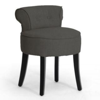 Baxton Studio Millani Linen Modern Lounge Stool