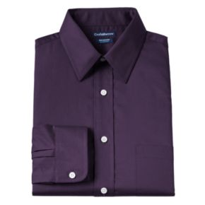 Men's Croft & Barrow® Classic Fit Solid Broadcloth Wrinkle-Resistant Point-Collar Dress Shirt