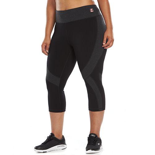 2689f9fcf89c4 Plus Size FILA SPORT® Swift Capri Running Leggings
