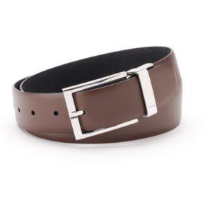 Men's Chaps Ultra Suede Black Brown Reversible Belt