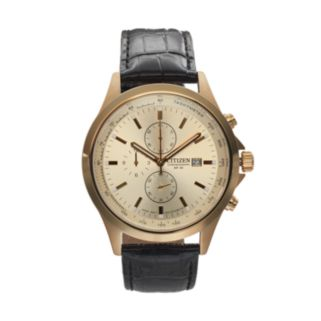 Citizen Men's Leather Chronograph Watch - AN3512-03P