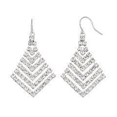 Simulated Crystal Statement Chandelier Earrings