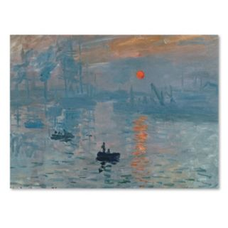 Trademark Fine Art ''Impression Sunrise'' Canvas Wall Art by Claude Monet