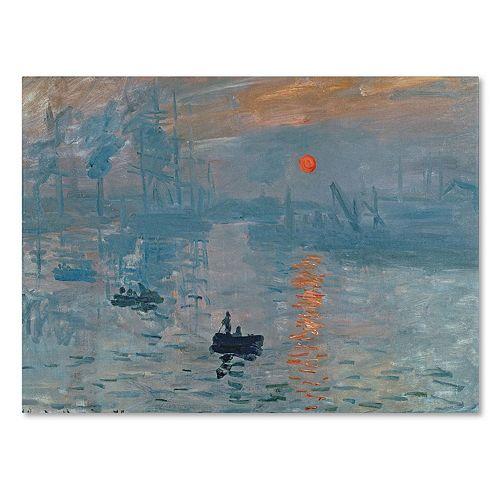 Trademark Fine Art ''Impression Sunrise'' Canvas Wall Art by Claude Monet