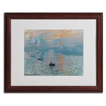 Trademark Fine Art ''Impression Sunrise'' Framed Canvas Wall Art by Claude Monet