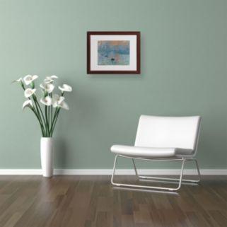 Trademark Fine Art ''Impression Sunrise'' Framed Canvas Wall Art by Claude Monet