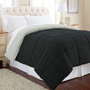 Solid Down-Alternative Reversible Comforter