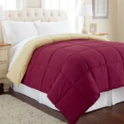 Solid Down-Alternative Reversible Comforter