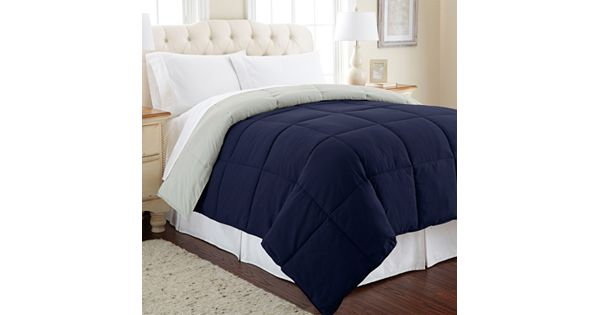 solid down alternative reversible comforter. Black Bedroom Furniture Sets. Home Design Ideas