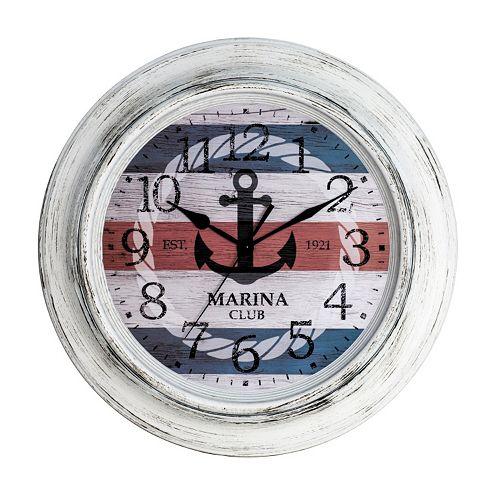 Nautical Distressed Wall Clock