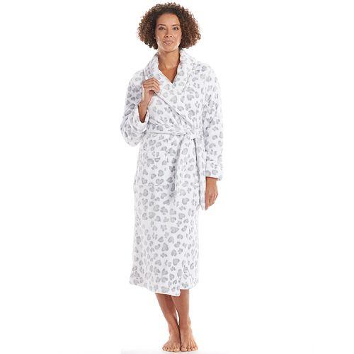 Women's SONOMA Goods for Life® Printed Long Plush Shawl Robe