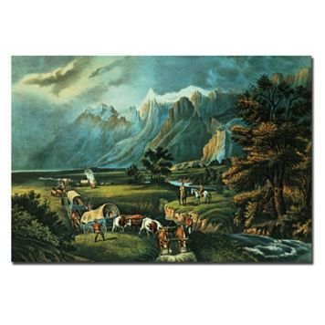 Trademark Fine Art ''Emmigrants Crossing the Plains'' Canvas Wall Art