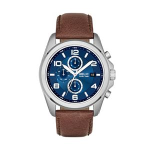 Relic by Fossil Men's Daley Leather Watch