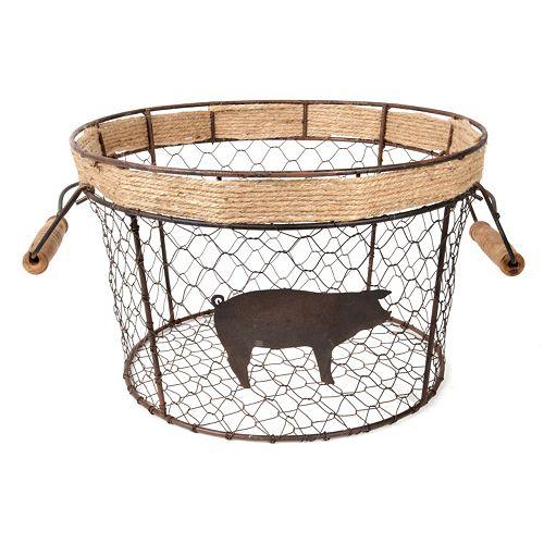 Pig Chicken Wire Basket