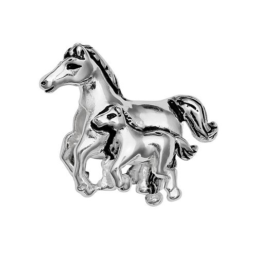 Individuality Beads Sterling Silver Horse Family Bead