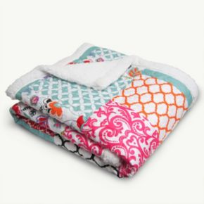 Lush Decor Brookdale Quilted Sherpa Throw